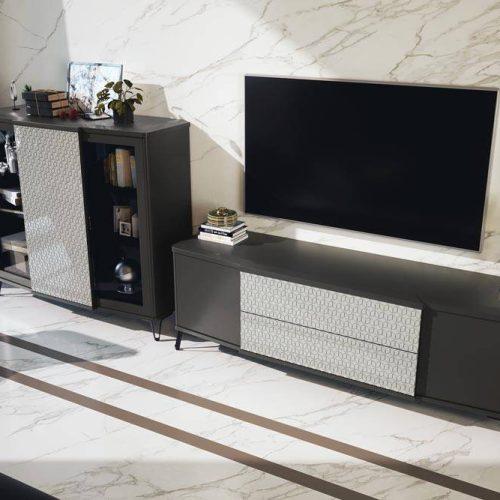 Salon-mueble-de-madera-tv