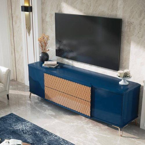 Salon-mueble-madera-tv